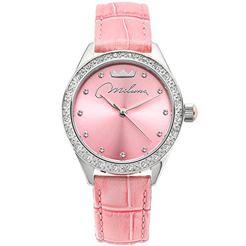 Uhr Damen Rosa Leder ORL1000 R30 Crystal Moments Xiao Yan