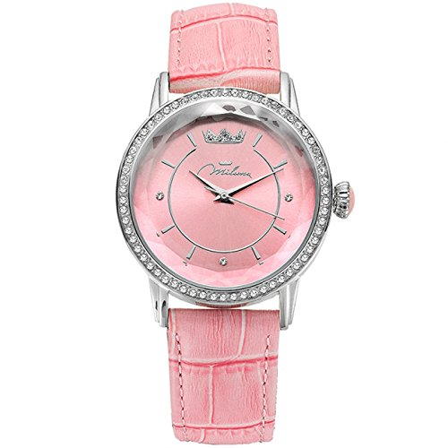 Uhr Damen Rosa Leder ORL1001 R35 Crystal Moments Xiao Yan