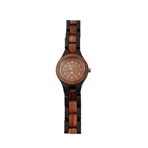 BS handgemachte Frauen leichte runde rote natuerliche Sandelholz Holz Uhren reine hoelzerne Uhr Digitaluhr Quarz Bewegung bestes Geschenk