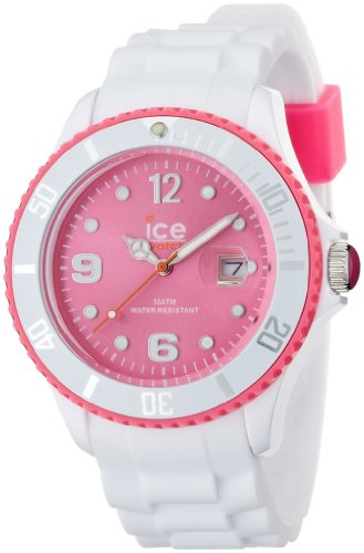 Ice Watch Unisex Armbanduhr Ice White Big weiss pink Analog Quarz SI WP B S 11