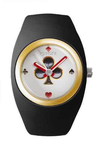 IO ION bu b1 K05 Armbanduhr Quarz Analog Armband Silikon Schwarz
