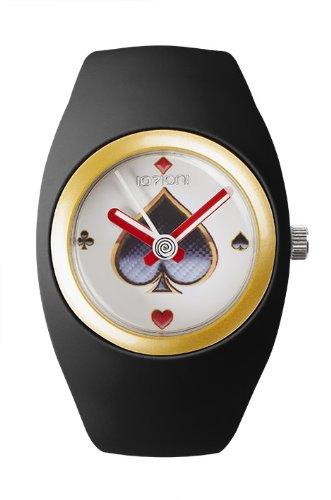 IO ION bu blk05 Armbanduhr Quarz Analog Armband Silikon Schwarz