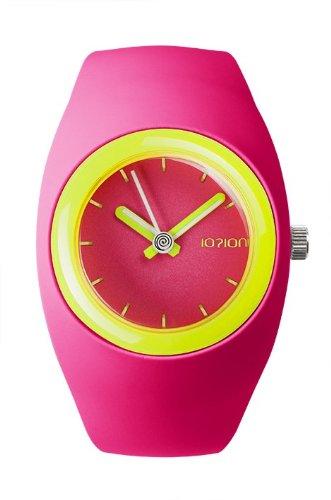 IO ION bu fcf23 Armbanduhr Quarz Analog Armband Silikon Rosa