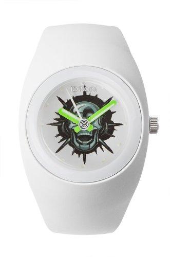 IO ION bu w2t04 Armbanduhr Quarz Analog Armband Silikon weiss