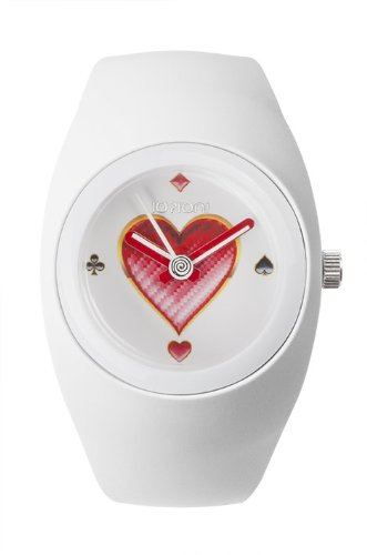 IO ION bu wht04 Armbanduhr Quarz Analog Armband Silikon weiss
