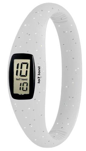 IO ION Unisex Armbanduhr Evo Glitter size III Digital Silikon E GLT16 III