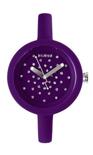 IoIon pcc blb50 Quarz Uhr Unisex mit Silikon Armband Violett