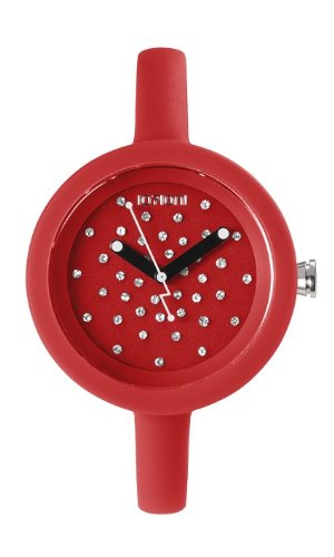 IoIon pcc red07 Quarz Uhr Unisex mit Silikon Armband Rot