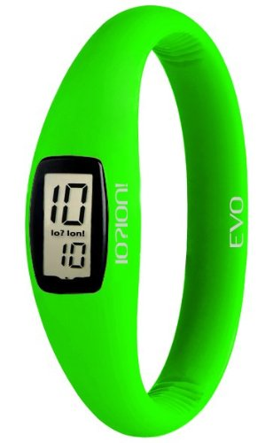 IO ION Unisex Armbanduhr Evo Green Fluo size II Digital Silikon E GRF26 II