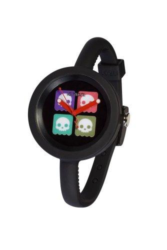 IO ION Unisex Armbanduhr Pod Black Skully Analog Silikon PF B2K05