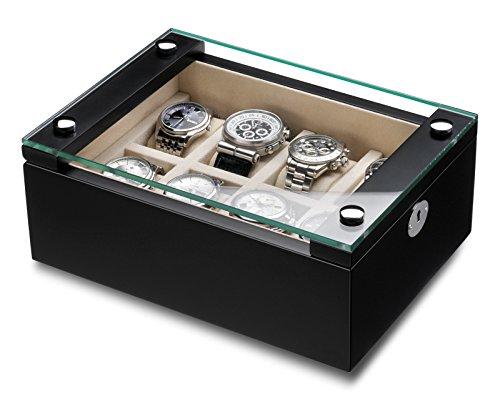 Hermann Jaeckle Uhrenbox Mannheim fuer 8 Uhren schwarz matt