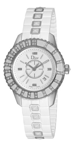 Christian Dior Damen CD113112R001 Christal White Diamond Zifferblatt