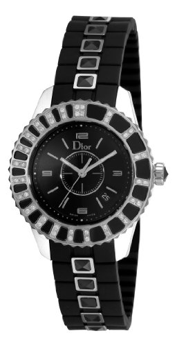 Christian Dior Damen CD113115R001 Christal Diamond Black Zifferblatt