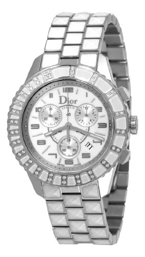 Christian Dior Damen CD114311M002 Christal Chronograph Diamond White Zifferblatt