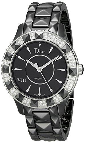 Christian Dior Damen cd1245e1 C001 schwarz Acht Analog Display Swiss Automatische schwarz Armbanduhr