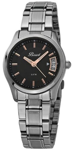 Bossart Watch Co Basic BW 1002 SS Armbanduhr fuer Sie Zeitloses Design
