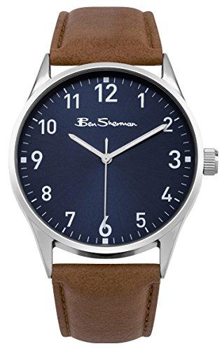 Ben Sherman bs143 Herren blau Zifferblatt braun Armbanduhr