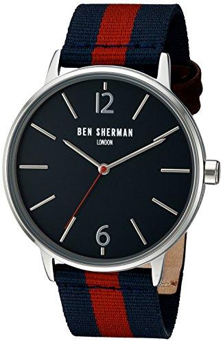 Ben Sherman Herren Armbanduhr Portobello Stripe Analog Quarz Textil WB044U