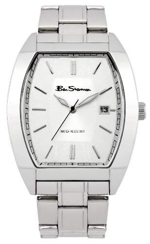 BEN SHERMAN Herren-Armbanduhr Analog Edelstahl beschichtet silber R914