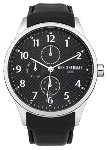 Ben Sherman Herren-Armbanduhr Spitalfields Multi-Function Analog Quarz Leder WB004B