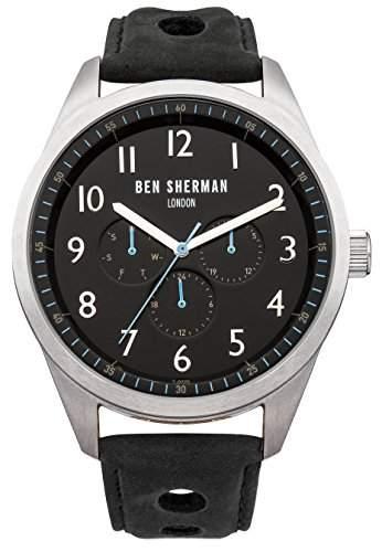 BEN SHERMAN Herren-Armbanduhr Analog Quarz Leder WB005B