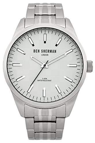 Ben Sherman Herren-Armbanduhr Big Carnaby Check Analog Quarz Edelstahl WB007SM