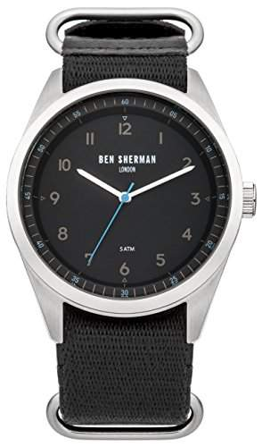 BEN SHERMAN Herren-Armbanduhr Analog Quarz Textil WB010B