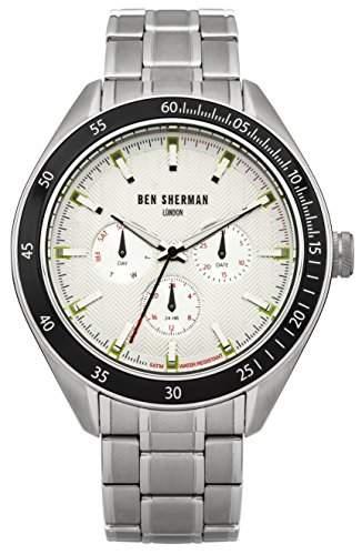 Ben Sherman Herren-Armbanduhr Islington Multi-Function Analog Quarz Edelstahl WB011SM