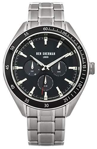 Ben Sherman Herren-Armbanduhr Islington Multi-Function Analog Quarz Edelstahl WB011UM