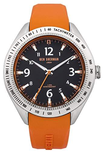 Ben Sherman Herren-Armbanduhr Islington Colour Analog Quarz Silikon WB012O