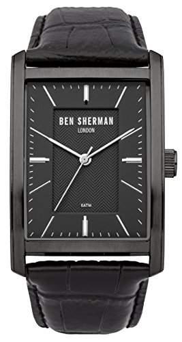 Ben Sherman Herren-Armbanduhr Clerkenwell Professional Analog Quarz Leder WB013B