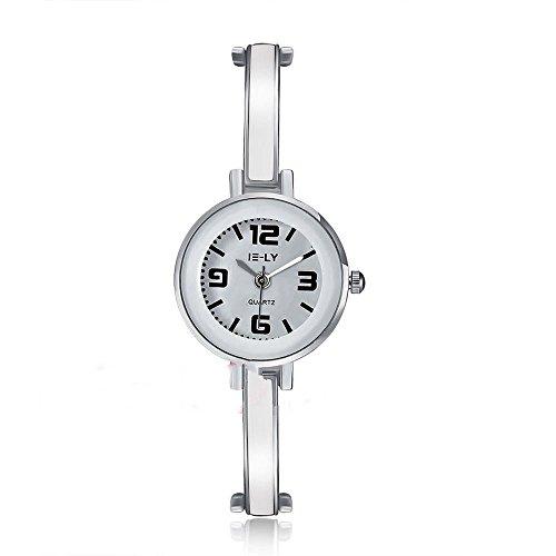 CS Priority Damen Armbanduhr Watch Weiss Zifferblatt Analog Anzeige und Weiss Armband Watch Quarz whyyl0002 4