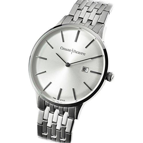 Uhr Cesare Paciotti Herren 42 mm tsst124 nur Zeit Armband Stahl