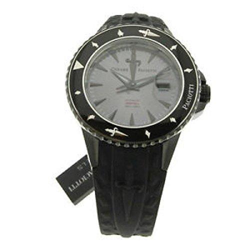 Uhr Cesare Paciotti unisex tsdf023 Schalter Stahl Quandrante anthrazit Armband Gummiarmband