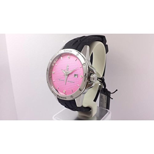 Uhr Cesare Paciotti Time Style tsst002 Quarz Batterie Stahl Quandrante Rosa Armband Kautschuk