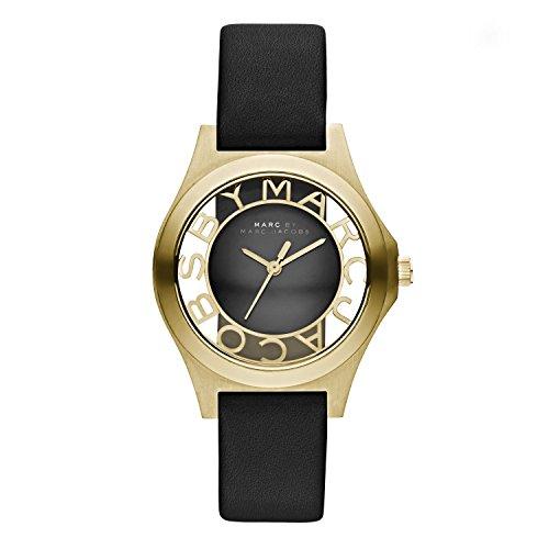 Marc Jacobs Damen Armbanduhr XS Analog Quarz Leder MBM1340