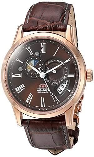 Orient Herren 425mm Automatikwerk Braun Leder Armband Datum Uhr FET0T003T0