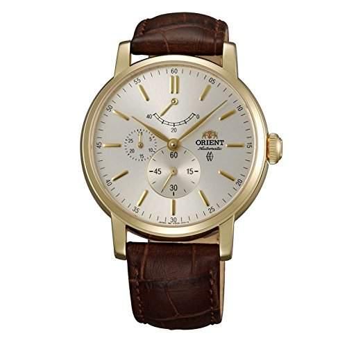 Orient Herren Automatikwerk Braun Leder Armband Mineral Glas Uhr FEZ09002S0