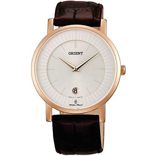 Orient Herren 40mm Braun Leder Armband Mineral Glas Datum Uhr FGW0100CW0