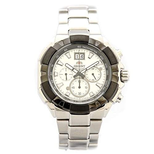 Orient Herren-Armbanduhr Chronograph Quarz Edelstahl FTV00002W0