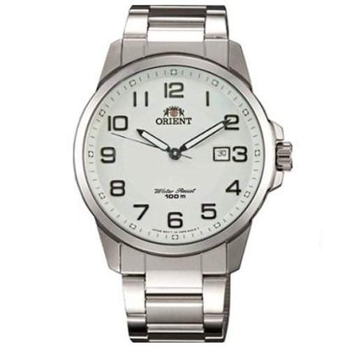 Orient Herren 415mm Silber Edelstahl Armband & Gehaeuse Datum Uhr FUNF6003W0