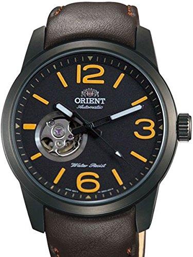 Orient Scout 21 jewel Automatik Uhr mit open heart und 42 mm schwarz IP Fall db0 C001b