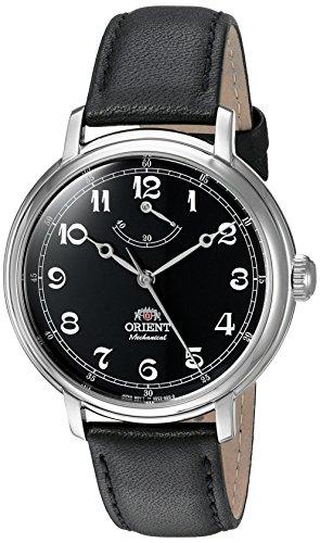 Orient Monarch Armbanduhr mit Handaufzug und schwarzem Zifferblatt und Batteriestands Anzeige DD03002B