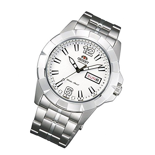 Orient Uhr Sporty Automatik white Tag Datum sportliche Herrenarmbanduhr FEM7L005W9