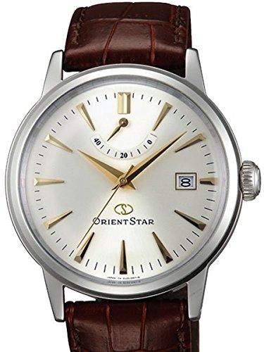Orient star classic Automatik Kleid Uhr mit Power Reserve Kuppel Kristall el05005s