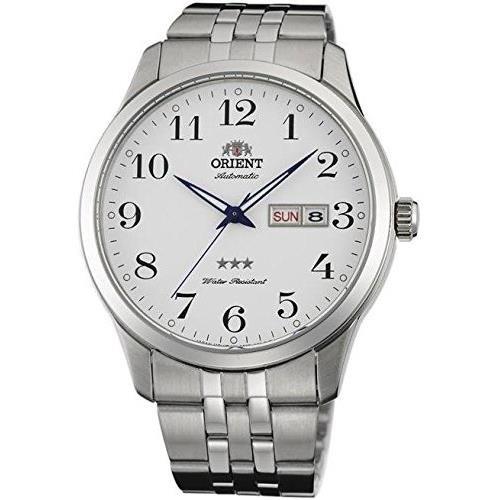 Orient 43mm Armband Edelstahl Gehaeuse Automatik Zifferblatt Weiss Analog FAB0B002W9