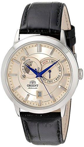 Orient 41mm Armband Kalbsleder Schwarz Gehaeuse Edelstahl Automatik Analog FET0P003W0