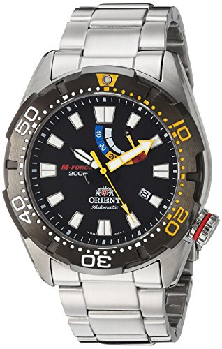 Orient m force Bravo Automatische schwarz Dive Uhr mit Power Reserve Meter el0 a001b
