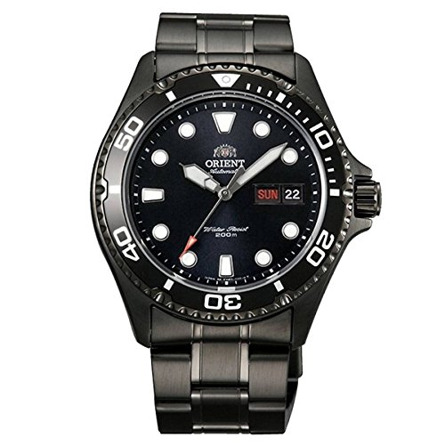 Orient Ray Raven II schwarz pvdl Automatic Dive Uhr mit Armband aa02003b