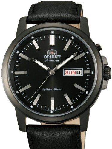 Orient 42 mm PVD Seestern Tag und Datum Automatik Uhr mit schwarzem Zifferblatt em7j001b